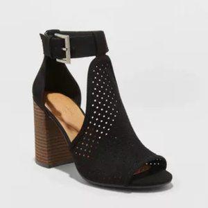 Women's Hannah Microsuede Block Heel Pumps - Black